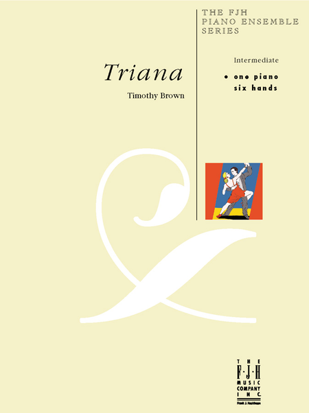 TIMOTHY BROWN TRIANA 1 PIANO 6 HANDS SHEET