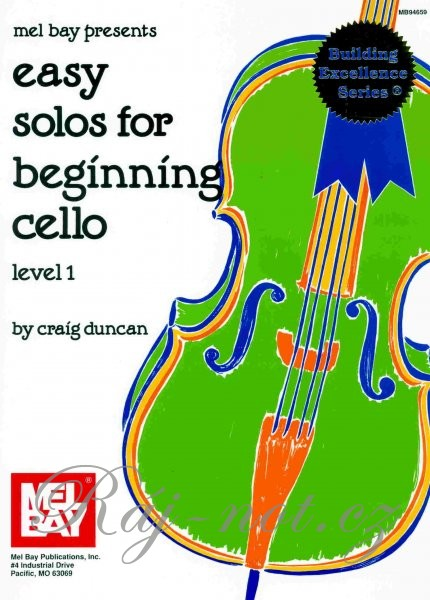 Easy Solos For Beginning Cello 1 violoncello a klavír