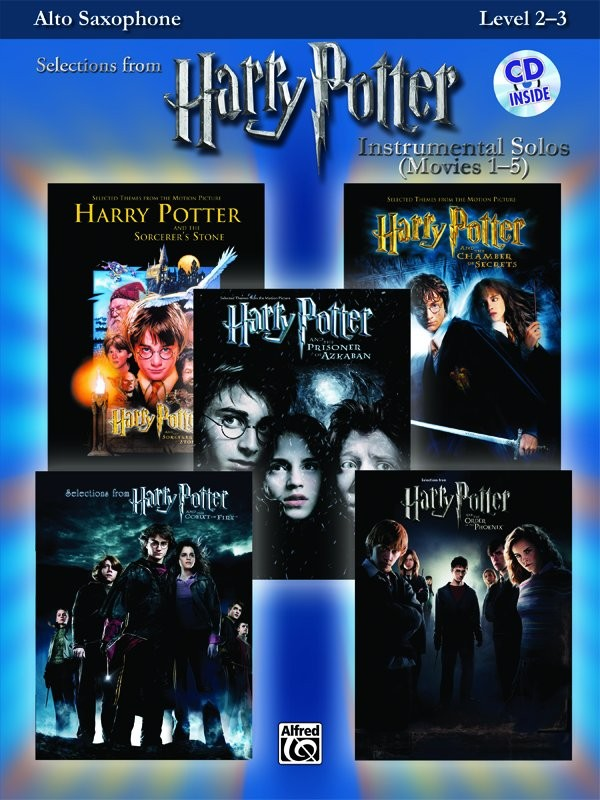 Harry Potter - Instrumental Solos (Movies 1-5) - Alto Saxophone
