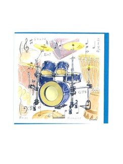 Little Snoring Gifts: Notelets Pack Of Five – Drum Design