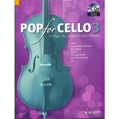 Pop For Cello 3 + CD - popové skladby pro 1-2 violoncella
