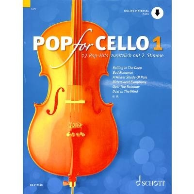 Pop For Cello 1 + online audio - popové skladby pro 1-2  violoncella