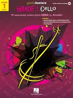 Gradebusters Grade 1 pro violoncello 15 awesome solos from ABBA to Aladdin
