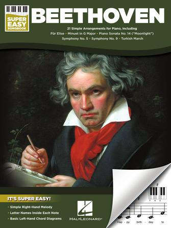 Beethoven - Super Easy Songbook - 21 Simple Arrangements for Piano