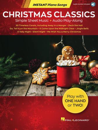 Christmas Classics - Instant Piano Songs - Simple Sheet Music + Audio Play-Along