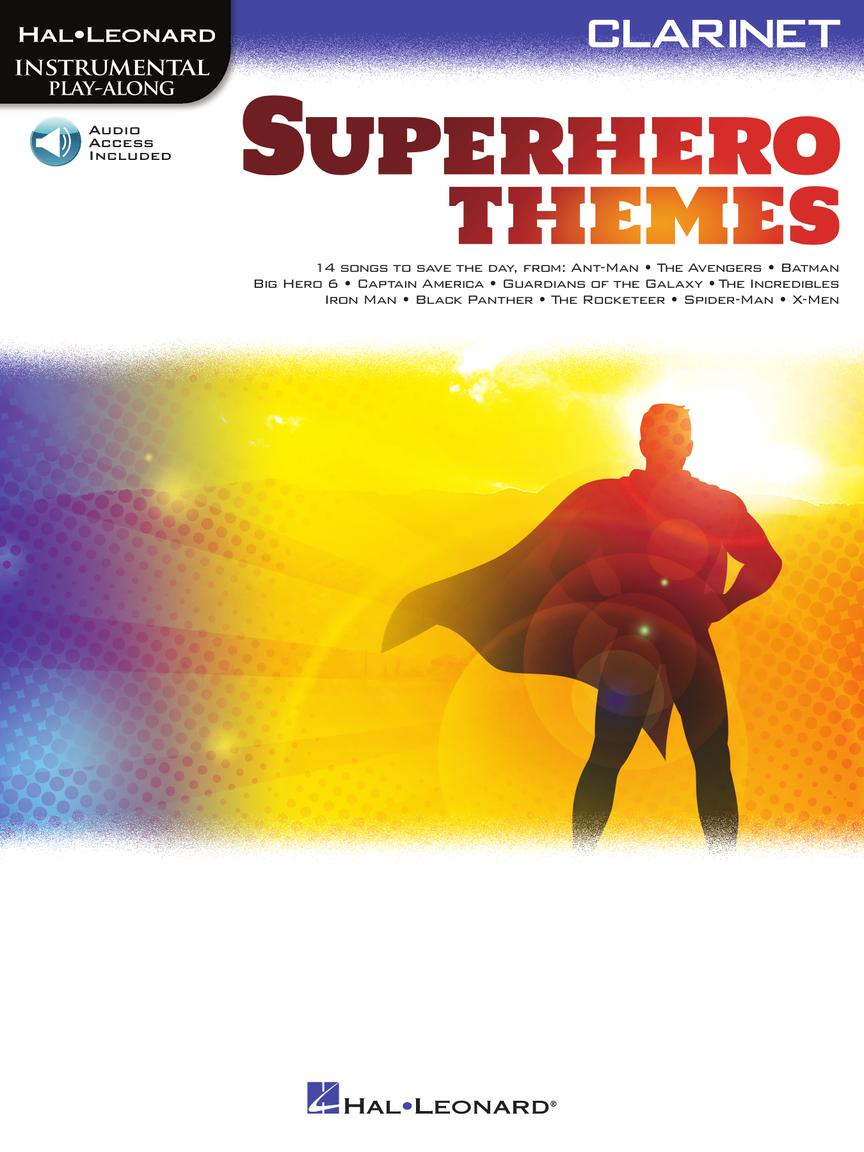 Superhero Themes noty pro Klarinet - Instrumental Play-Along
