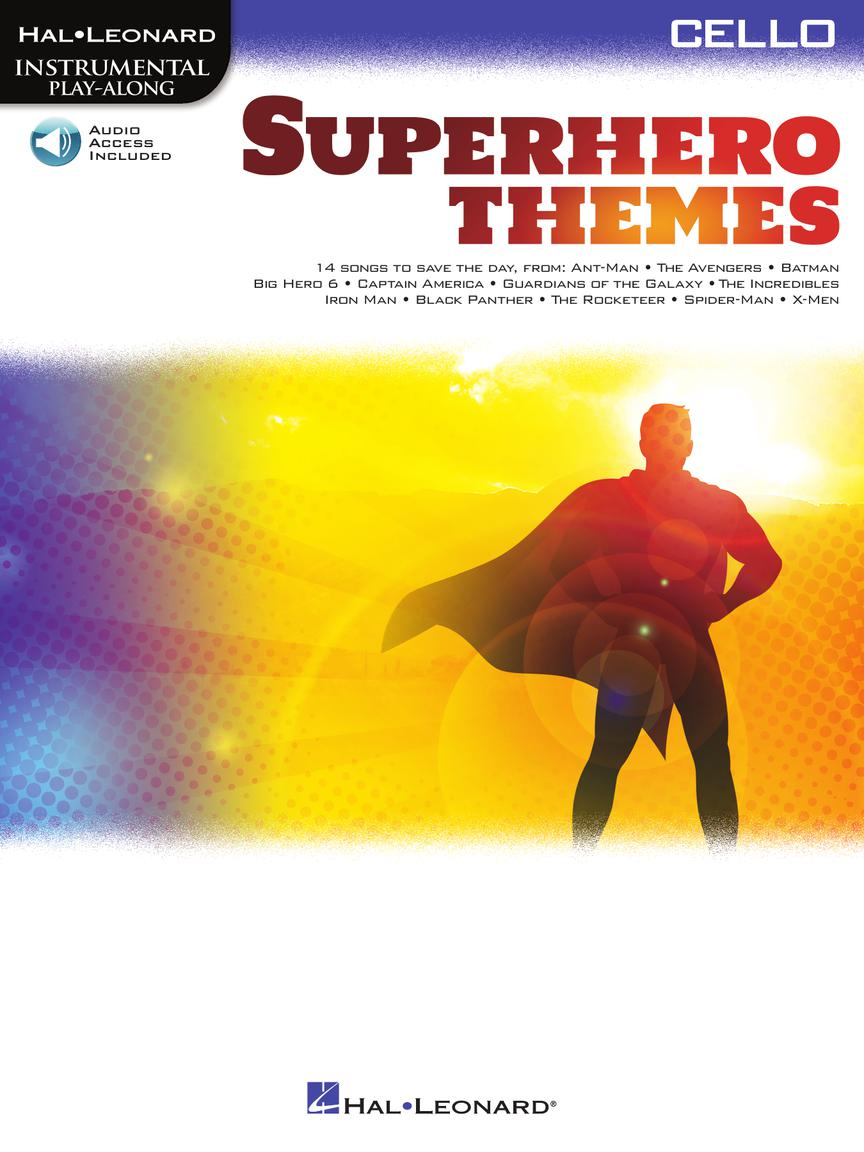 Superhero Themes noty pro Violoncello - Instrumental Play-Along