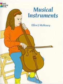 Musical Instruments Colouring Book