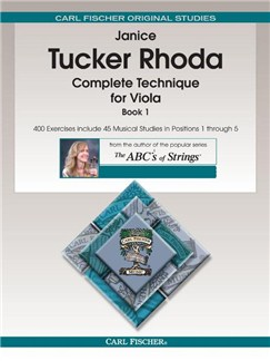 Janice Tucker Rhoda: Complete Technique For Viola - Book 1