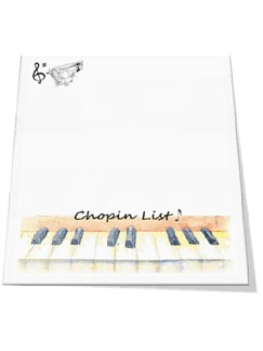 Little Snoring Gifts: Slant Pad - Chopin List