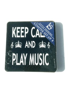 Podložky pod sklenice - Keep Calm And Play Music (4 ks)