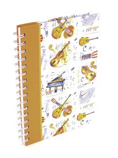 Little Snoring Gifts: A5 Hardback Lined Pages Notebook - Instrument Design