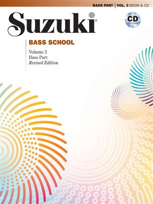 Suzuki Bass School Volume 3 2014 Revised Edition Double Bass Book/Cd
