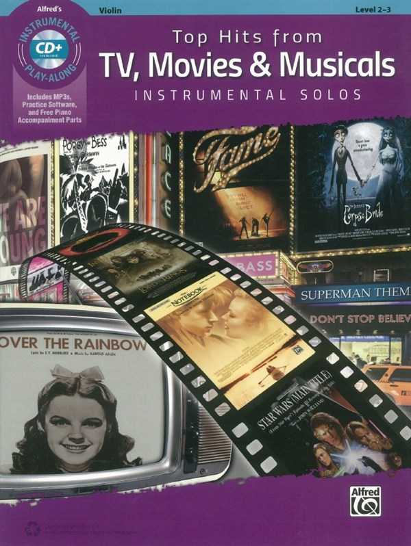 Alfred's Instrumental Play-Along: Top Hits From TV, Movies & Musicals - Violin (Book/CD)