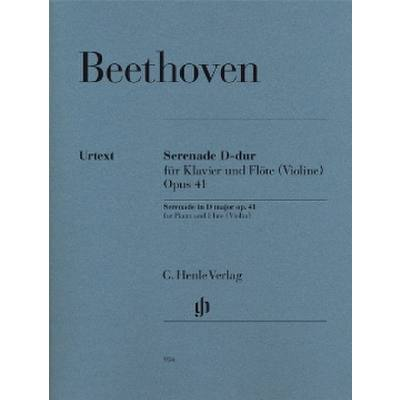 Beethoven Serenade In D Major Op. 41 For Flute (Violin) & Piano Bk