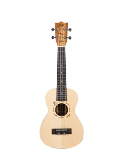 Flight: DUC525 Concert Solid Top Ukulele - Zebrano B&S (With Bag)