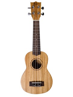 Flight: DUS322 Soprano Ukulele - Zebrano (With Bag)