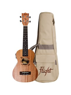 Flight: DUC323CEQ Electro-Acoustic Concert Ukulele (With Bag)