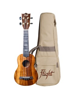 Flight: DUS445 Soprano Koa Ukulele (With Bag)