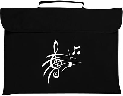 Mapac: Music Bag - Treble Clef & Notes (Black)