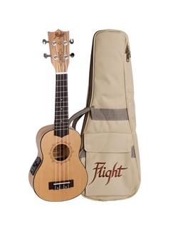 Flight: DUS320CEQ Soprano Electro-Acoustic Ukulele (With Bag)