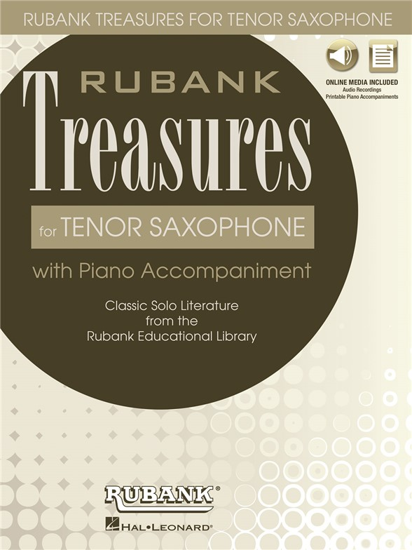 Rubank Treasures For Tenor saxofón (Book/Online Audio)
