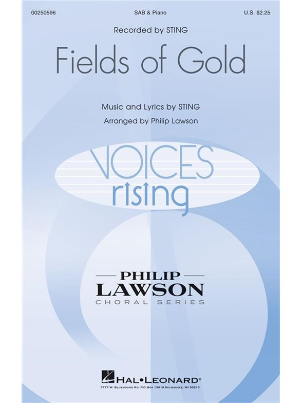 Sting: Fields Of Gold (Arr. Lawson) (SAB)