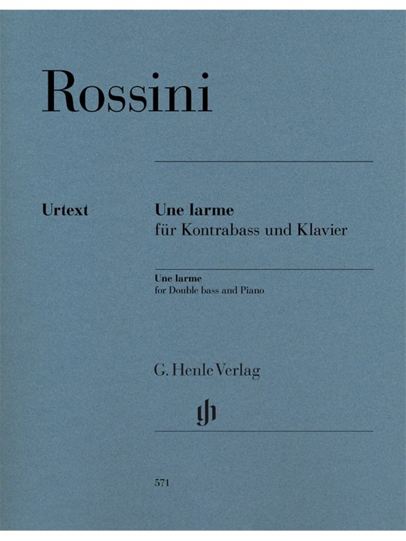 Gioacchino Rossini: Une Larme For Double Bass And Piano