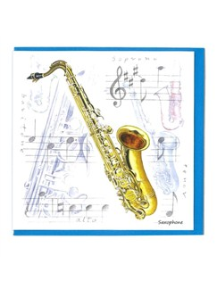 Little Snoring Gifts: Notelets Pack Of Five – Saxophone Design
