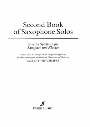 Second Book of Saxophone Solos