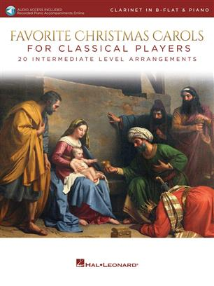 Favorite Christmas Carols for Classical Players - pro klarinet online audio a klavír